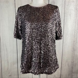 Black Label by Chico's Sequin Top